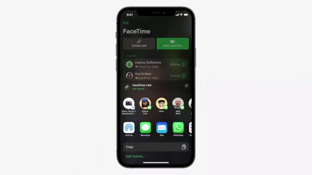 Che cosa fare per invitare un utente Android o Windows a una chiamata FaceTime 1