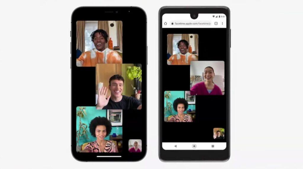 FaceTime su Android, videochiamata di gruppo