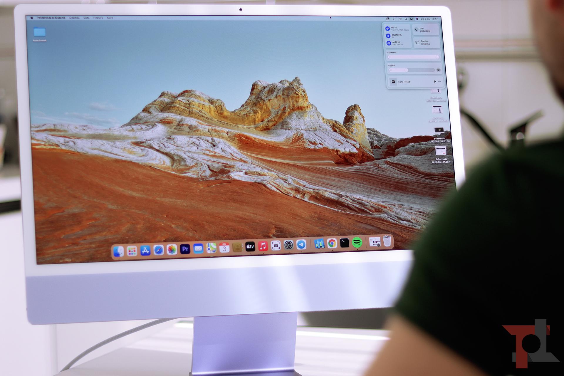 """Apple iMac 24"""" M1 prestazioni"""