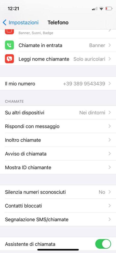 Come chiamare col numero privato iPhone