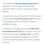 L'app IO notifica dell'arrivo del Cashback relativo al primo semestre 2021 2