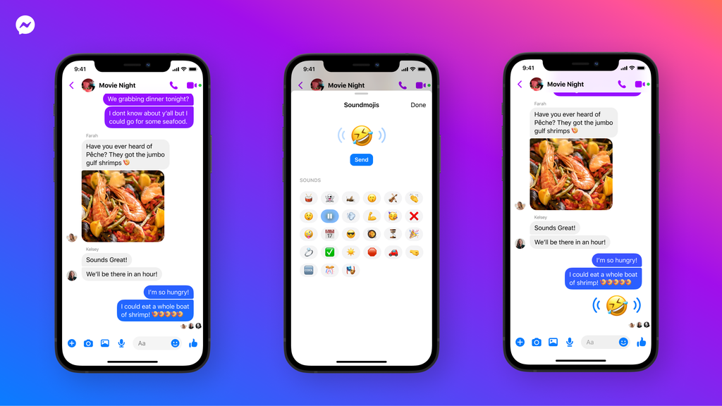 Facebook lancia Soundmojis, le faccine sonore per Messenger 1