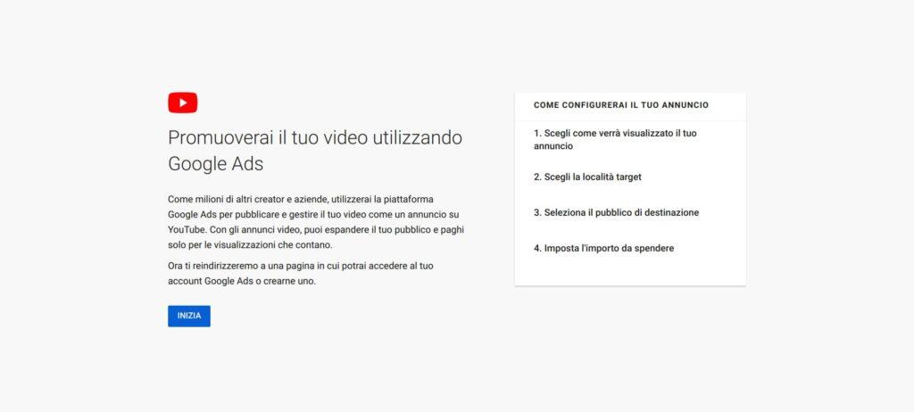 Campagna Google Ads per YouTube