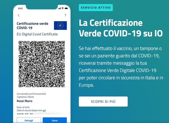 come ottenere il green pass europeo app