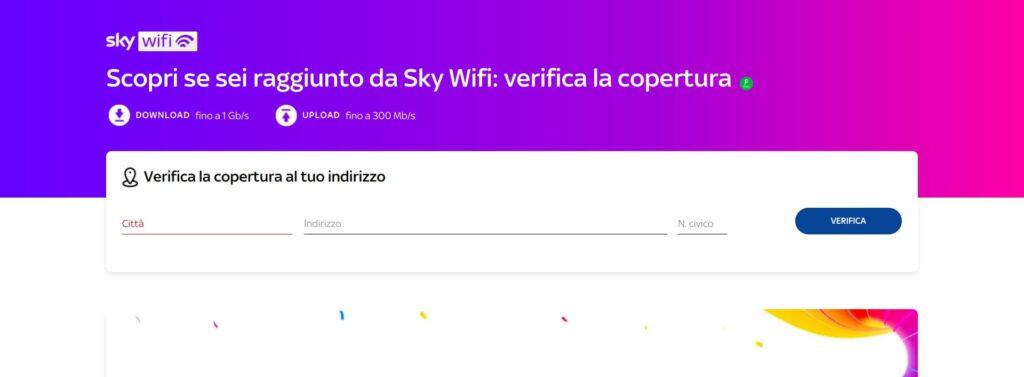 Verifica copertura Sky Wifi