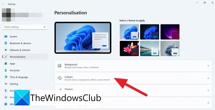Come disattivare la trasparenza su Windows 11 personalizzazione