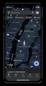 Google Maps iOS modalità scura