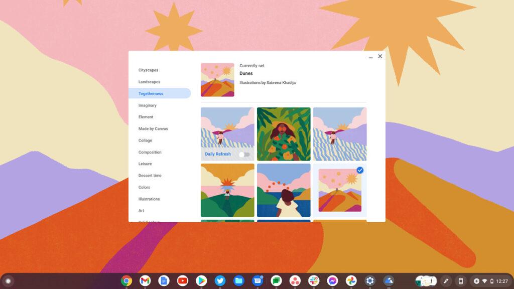 Chrome OS 92 sfondi