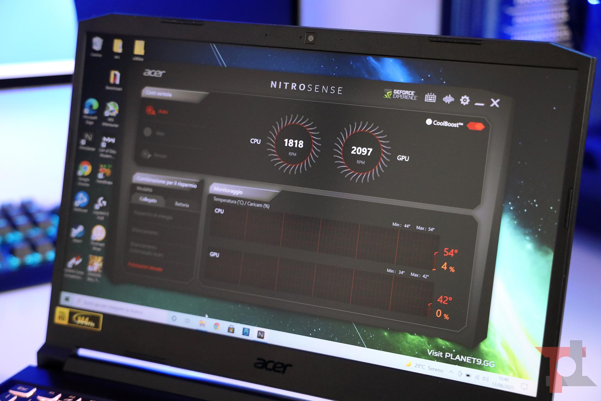 acer nitro 5 2021 software