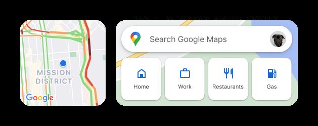 widget google maps ios