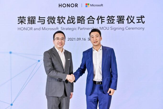 partnership HONOR Microsoft