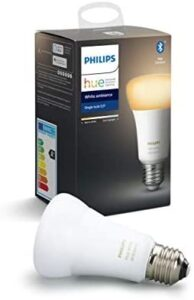 Philips Hue Ambient White Lampadina LED Connessa, con Bluetooth, Attacco E27, Dimmerabile