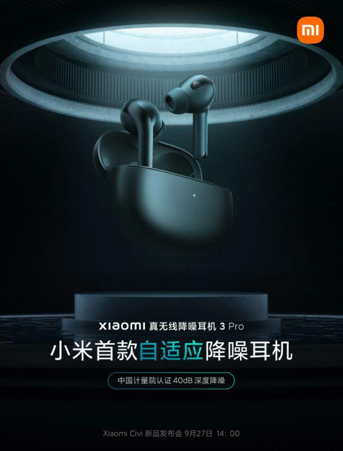 Xiaomi True Wireless Noise Cancelling Earphones 3 Pro
