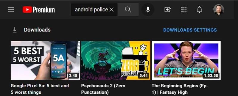 Youtube download sezione